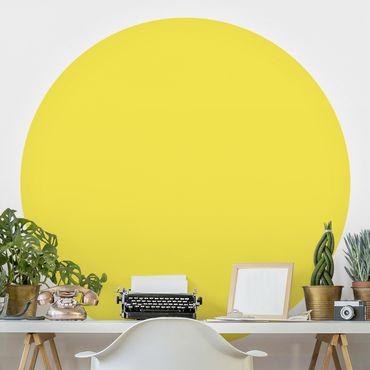 Carta da parati rotonda autoadesiva - Colore giallo limone
