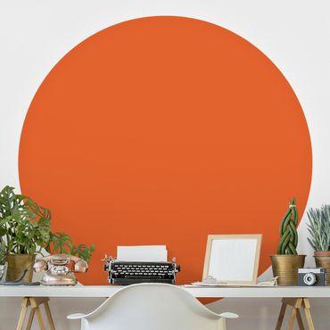 Carta da parati rotonda autoadesiva - Colore arancione