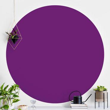 Carta da parati rotonda autoadesiva - Colore viola