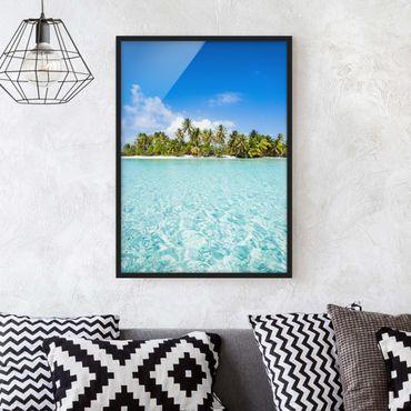 Poster con cornice - Acqua cristallina