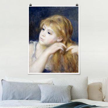 Poster - Auguste Renoir - testa di una ragazza - Verticale 4:3