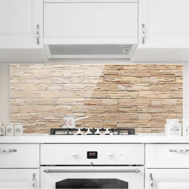 Paraschizzi in vetro - Asian Stonewall - Large Brigth Stone Wall Of Cosy Stones