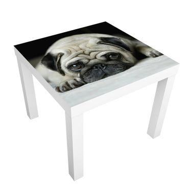 Carta adesiva per mobili IKEA - Lack Tavolino Pug Loves You