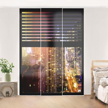 Tende scorrevoli set - Window View Blinds - Manhattan At Night