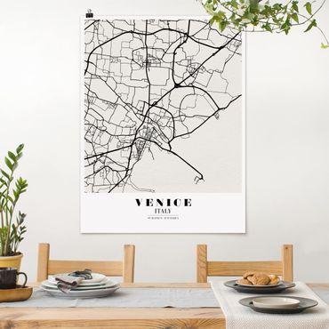 Poster - Mappa Venezia - Classic - Verticale 4:3