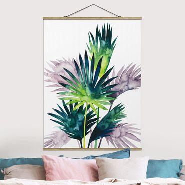 Foto su tessuto da parete con bastone - Exotic Foliage - Palma - Verticale 4:3