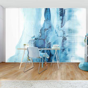 Tenda scorrevole set - Flusso blu II
