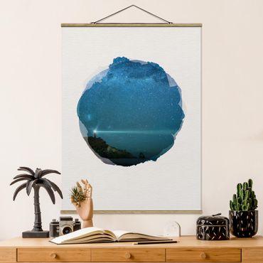 Foto su tessuto da parete con bastone - Acquerelli - Faro - Verticale 4:3