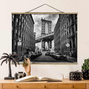 Foto su tessuto da parete con bastone - Manhattan Bridge In America - Orizzontale 3:4