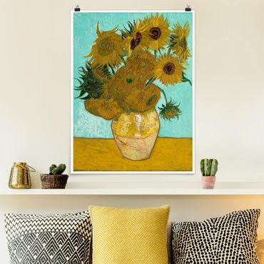 Poster - Vincent Van Gogh - Vaso con girasoli - Verticale 4:3