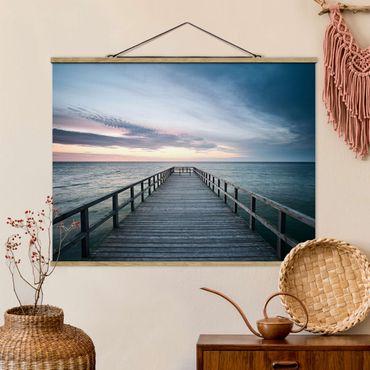 Foto su tessuto da parete con bastone - Steg promenade - Orizzontale 3:4