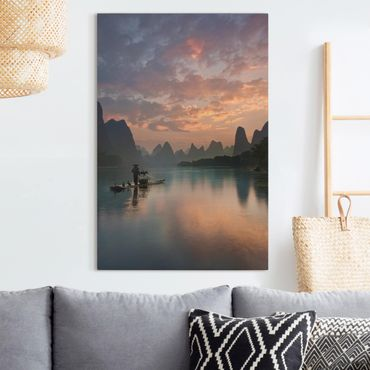 Stampa su tela - Alba sul fiume cinese - Verticale 2:3