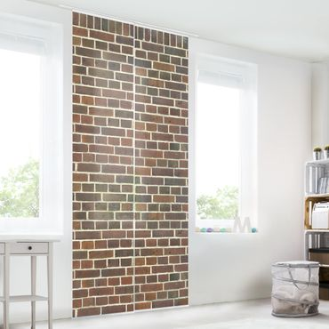 Tende scorrevoli set - Brick Wallpaper London Maroon