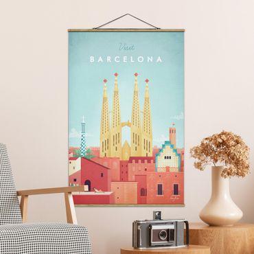 Foto su tessuto da parete con bastone - Poster viaggio - Barcellona - Verticale 3:2