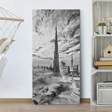 Stampa su tela - Dubai Super Skyline - Verticale 1:2