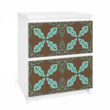 Carta adesiva per mobili IKEA - Malm Cassettiera 2xCassetti - Moroccan Ornament