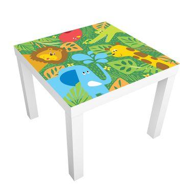 Carta adesiva per mobili IKEA - Lack Tavolino No.BP4 zoo animals