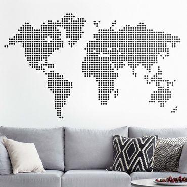 Adesivo murale - World Map Punti
