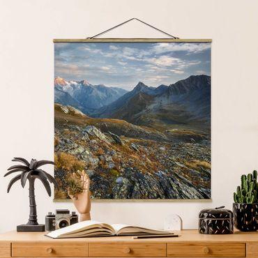 Foto su tessuto da parete con bastone - Col Fenêtre De Svizzera - Quadrato 1:1