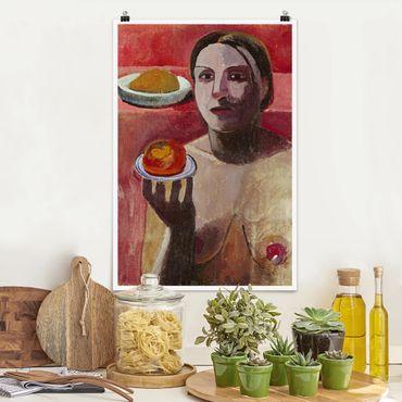 Poster - Paula Modersohn-Becker - Un Halbakt italiano - Verticale 3:2