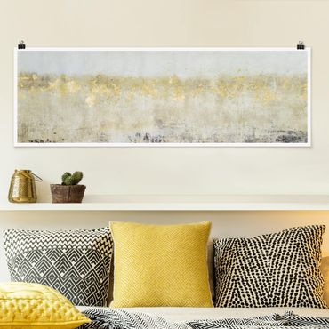 Poster - Golden Color Fields I - Panorama formato orizzontale
