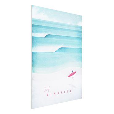 Stampa su Forex - Poster TRAVEL - Biarritz - Verticale 4:3