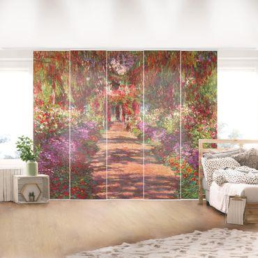 Tende scorrevoli set - Claude Monet - Percorso nel giardino di Monet Giverny A - 5 Pannelli