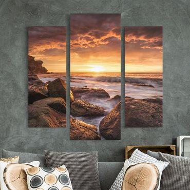 Stampa su tela 3 parti - Cape Solander - Trittico da galleria