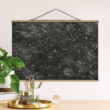 Foto su tessuto da parete con bastone - Constellation Mappa Ottica pannello - Orizzontale 2:3