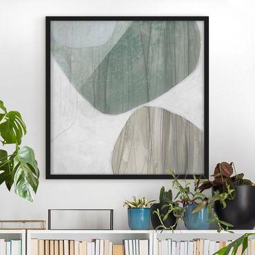 Poster con cornice - Jade II - Quadrato 1:1