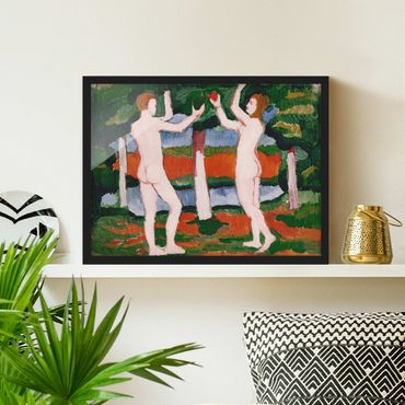 Poster con cornice - August Macke - Adam And Eve - Orizzontale 3:4