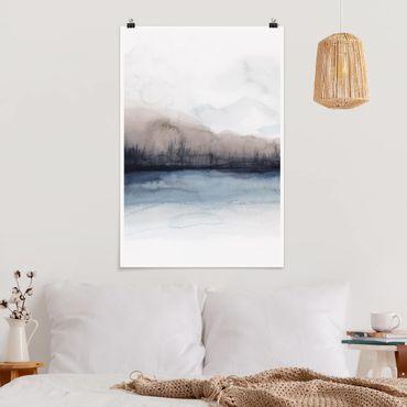 Poster - Lakeside Con Monti II - Verticale 3:2