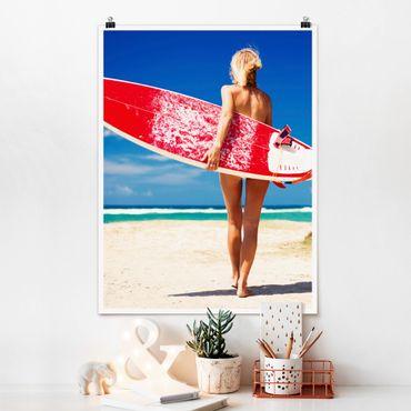 Poster - Surfer Girl - Verticale 4:3