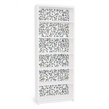 Carta adesiva per mobili IKEA - Billy Libreria - Mille fleurs flower pattern