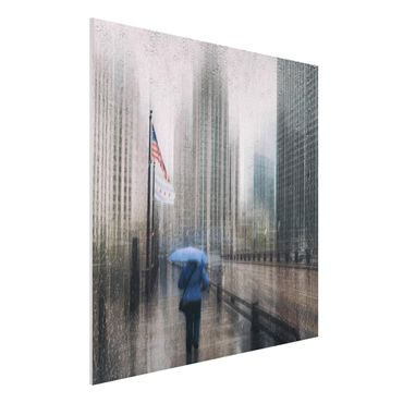 Quadro in forex - Rainy Chicago - Quadrato 1:1