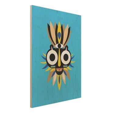 Stampa su legno - Collage Mask Ethnic - Big Eyes - Verticale 4:3