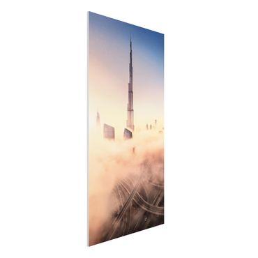 Quadro in forex - Heavenly skyline di Dubai - Verticale 1:2