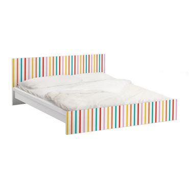 Carta adesiva per mobili IKEA - Malm Letto basso 180x200cm No.UL750 Stripes