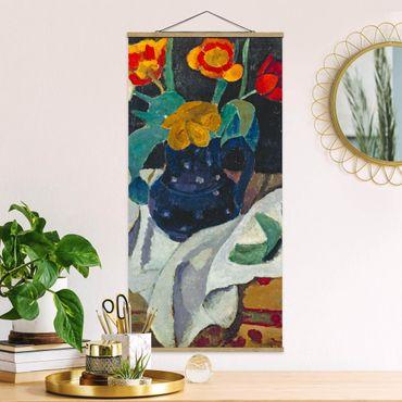 Foto su tessuto da parete con bastone - Paula Modersohn-Becker - Natura morta con tulipani - Verticale 2:1