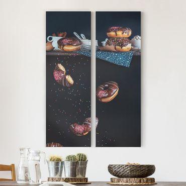Stampa su tela 2 parti - Donuts from the kitchen shelf - Pannello