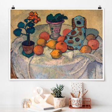 Poster - Paula Modersohn-Becker - Natura morta con arance - Orizzontale 3:4
