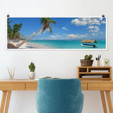 Poster - Tropical Beach - Panorama formato orizzontale