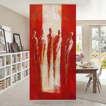 Tenda a pannello - Petra Schüßler - Five Figures In Red 02 - 250x120cm