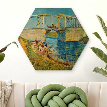 Esagono in legno - Vincent Van Gogh - Ponte levatoio a Arles