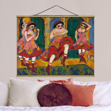 Foto su tessuto da parete con bastone - Ernst Ludwig Kirchner - Czardas Ballerini - Orizzontale 3:4
