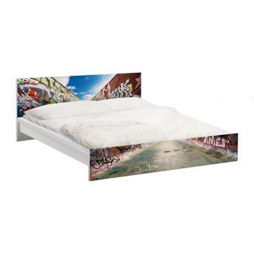 Carta adesiva per mobili IKEA - Malm Letto basso 140x200cm Skate Graffiti
