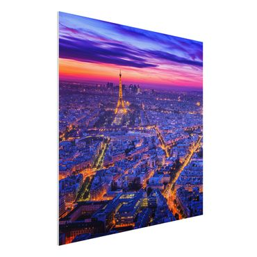 Quadro in forex - Parigi di notte - Quadrato 1:1