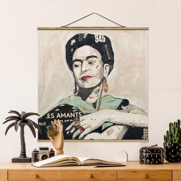Foto su tessuto da parete con bastone - Frida Kahlo - Collage No.4 - Quadrato 1:1