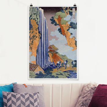 Poster - Katsushika Hokusai - Ono Cascata - Verticale 3:2