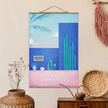 Foto su tessuto da parete con bastone - Poster di viaggio - Marocco - Verticale 3:2